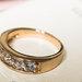 Paauksuotas žiedas
