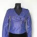 Mėlyna odinė striukė