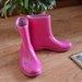 Roziniai neilgi guminiai batai