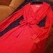 Raudona vakarine suknele