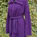 Šiltas mocherinis paltas rudens pavasario sezonui