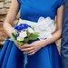 Platėjanti Daili mėlyna suknelė
