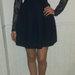 Gifiūrinė tamsiai mėlyna suknelė