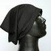 Nauja juoda trikotažinė beanie stiliaus kepurė