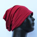Nauja beanie plono trikotažo raudona kepurė
