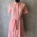 Persikinė lininė suknelė