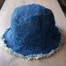 Džinsinė kepurė - skrybėlaitė
