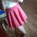 Rožinis gražus sijonas