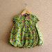 Žalia suknelė su gėlytėm 74 dydis, Hema