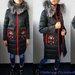 Prabangi pūkinė striukė-paltas