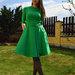 Žalia Klasikinė Suknelė