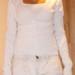Baltas megztinis (M/L)