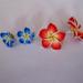 havajietiškų gėlių auskarai