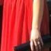 nuostabi raudona progine suknele