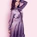 Vintažinė Violetinė šilkinė suknelė su kaspinu