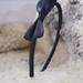 Black Bow lankelis plaukams