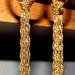 Auksinės spalvos, dailūs auskariukai