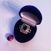 Padengtas tikrų auksų žiedas su kristalais