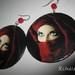 Auskarai_Lady in red