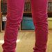 Rožinės Bershka kelnės