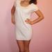 Balta Bershka suknelė