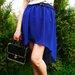 Vasaros topas ilgas melynas sijonas 2