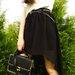 Sifoninis Ilgas juodas sijonas