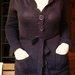 Rudas surišamas megztinis