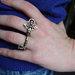 Dvigubas žiedas Raktelis - Double finger rong