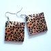 leopardo rašto auskarai