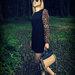 Suknelė su leopardinėm rankovėm