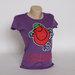 nauji violetiniai marškinėliai, S dydis