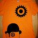 Clockwerk dizaino vyriški marškinėliai