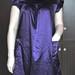 violetinė tunika su kišenėlėmis