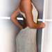 Maxi pieno spalvos suknelė siuvinėta karoliukais