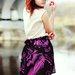Juodai-rožynis asimetriskas sijonas