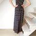 Ilga dryžuota suknelė