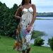 Ilga šilkinė suknelė