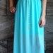 Ilga mėtinė suknelė! XS-L