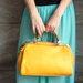 Katana stiliaus rankinė geltona