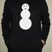 Angry Snowman juodi vyriškas džemperis