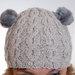 Kepurė su katės ausimis iš kailio