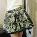 Madingas gelėtas pūstas sijonas