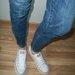 Esprit mėlyni džinsai su užtaruktukais