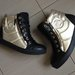 paskutiniai! Chanel Sneakers black with gold
