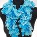 Turkio spalvos garbiniuotas šalikėlis #Hande Made