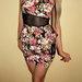 Gėlėta peplum suknelė
