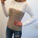 Puošnus megztinis su karoliukais