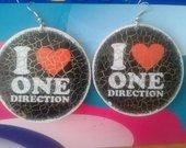 """""""I love One Direction"""" auskarai"""