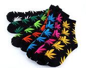 kojinės su kanapėmis.